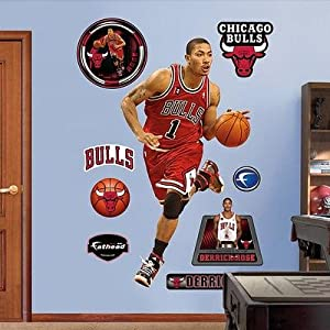 (40x76) Derrick Rose - Chicago Bulls Rookie of the Year Fathead Wall Decal
