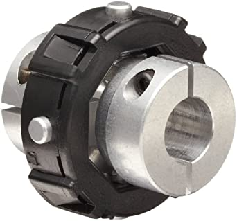Huco Universal-Lateral Coupling with Aluminum Alloy Hubs, Aluminum Alloy Integral Leaf Clamp, Acetal Torque Ring, Inch