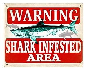 Amazon.com: Fishing Shark Sign warning funny plaque for fish Tank