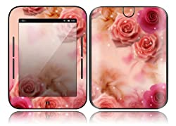 Barnes & Noble Nook Simple Touch Decal Skin - Pink Roses