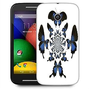 Snoogg Kaleidoscopic Butterflies Designer Protective Phone Back Case Cover For Motorola E2 / MOTO E22