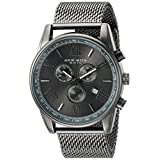 Akribos XXIV Men's AK813GN Chronograph Gun Metal Stainless Steel Mesh Bracelet Watch