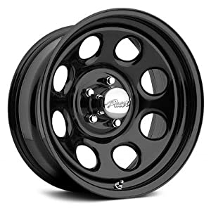 Pacer Soft 8 15x8 Black Wheel / Rim 5x4.5 with a -12mm Offset and a 83.82 Hub Bore. Partnumber 297B-5812