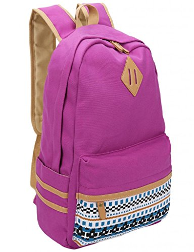 Leaper Causal Style Lightweight Canvas Laptop Bag/Cute backpacks/ Shoulder Bag/ School Backpack/ Travel Bag Purple