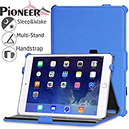 Navitech iPad Mini 3 Blue Case / Cover With Multi Stand, Stylus Holder & Handstrap