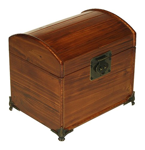 Mountain Woods Valencia Antique Style Recipe Box w/ Legs 0