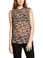 Maison Scotch Top (Salmón / Negro)