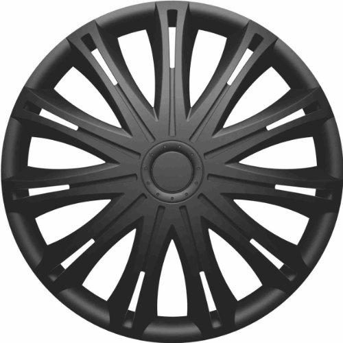 RAU-560-Copri-Cerchio-Coprimozzo-Spark-Adatto-a-tutti-gli-standard-per-ruote-in-acciaio-Nero-4-pezzi
