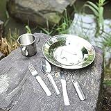 OUTDOOR-FREAKZ-Campinggeschirr-aus-Edelstahl-Teller-Tasse-Besteck-Flaschen-Dosenffner
