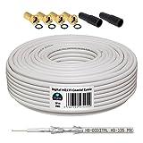 10m 130dB Koaxial Kabel HB-DIGITAL Set SAT-Kabel inkl. 4...