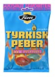 Fazer The Original Tyrkisk Peber (Turkish Pepper) Hot & Sour Finnish Hard Salmiak Liquorice Candy Candies Sweets Bag 180g.