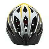 Unique Men's Bicycle Helmet Adult Sport Helmet + Waterproof Actioncam HD 720P Sport Helmet Action Video Camera DVR AVI Video Format Supports with 8GB TF Card (yellow)