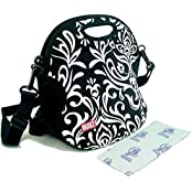 Built NY Spicy Relish Insulated Lunch Tote Cooler Bag With 8 Oz Nordic Ice Freezer Pack. (Damask)