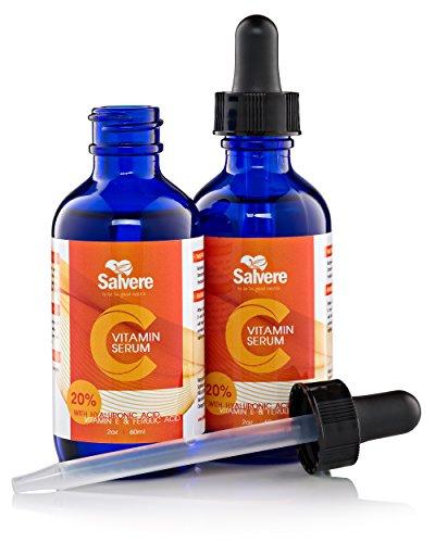 Salvere discount duty free Salvere 20% Vitamin C + E Ferulic Acid Serum with Hyaluronic Acid - 60ML/2OZ