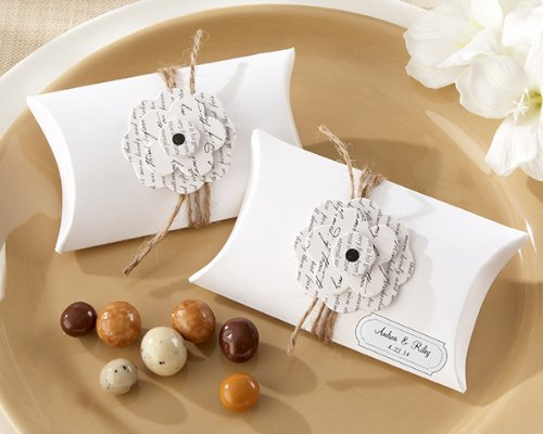 Love Letter Flowering Pillow Favor Box (Set of 24)