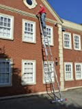 6.24m- 2 Section Extension Ladder / Ladders with Integral Stabiliser