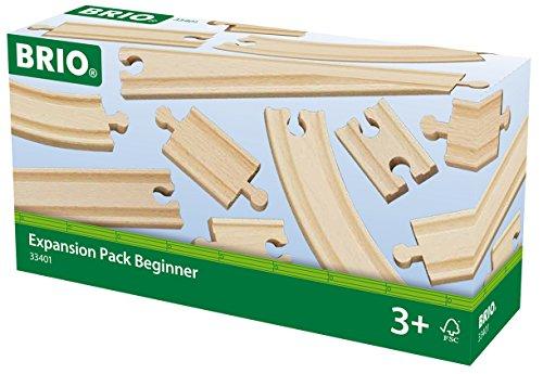 Brio - 33401 - Chemin de fer en bois - Coffret Expansion Débutants - 11 pièces