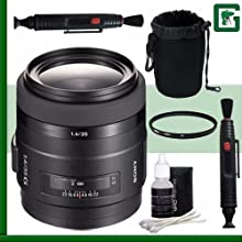 Sony 35mm f14G Wide Angle Prime Lens Green39s Camera Bundle 16