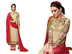 Shayona Salwar suit for women & girls(red&cream)