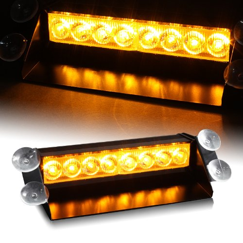 Amber Generation 3 Led Hazard Warning/Construction Use Strobe Lights For Interior Roof / Dash / Windshield