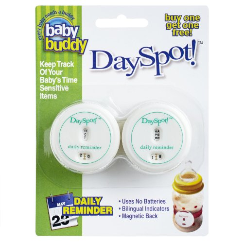 Baby Buddy DaySpot Daily Reminder, White, 2 Count