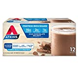 Atkins Ready to Drink Shakes, Milk Chocolate Delight, 16g Protein, 2g Net Carbs, 1 g Sugar, 11-Ounce, 12-Pack (Packaging May Vary)