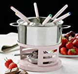 Kitchen - FUNKY PINK STAINLESS STEEL FONDUE SET 6 FORKS FOOD