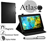 Navitech Black Faux Leather Case Cover With 360 Rotational Stand For The BQ Edison 2 Tablet