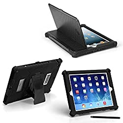 iPad Mini, Mini 2, Mini 3 Slim Tough Case G5 - Rugged Protection with Built-in Hard Cover and Stylus G5 (Black)