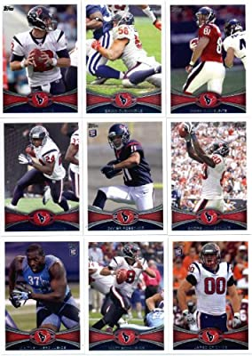2012 Topps Houston Texans Complete Team Set (Sealed) - 16 cards including Schaub, Andre Johnson, Arian Foster, Crick RC, Mercilus RC, Posey RC, Martin RC and more!
