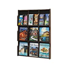 Safco Products Expose 9 Magazine 18 Pamphlet Display, Mahogany/Black, 5702MH