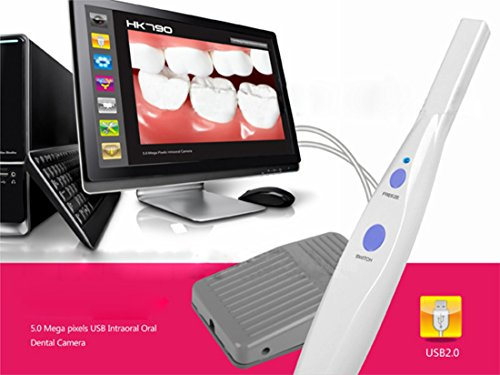 NEW 5.0MP Version IntraOral Oral DENTAL USB CAMERA Equipment HK790+Pedal