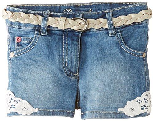 Pampolina Girl's Denim Shorts, Blue Denim, 18-24 Months (Manufacturer Size:92)