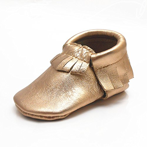Sayoyo Baby Tassels Soft Sole Leather Infant Toddler Prewalker Shoes