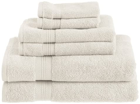Pinzon 650-Gram Low-Twist Pima Cotton 6-Piece Towel Set, Ivory