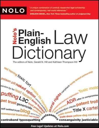Nolo's Plain-English Law Dictionary
