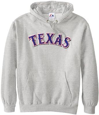 MLB Texas Rangers 300 Hitter Cooperstown Change Up Hooded Fleece, Steel Heather