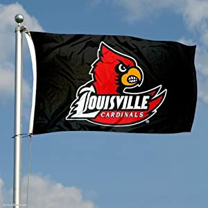 Buy Louisville Cardinals Black Flag by College Flags and Banners Co.