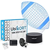 3D Night Light for Kids 3D Illusion American Football, UBIKORT Baby Night Light Great Birthday Gift for Sport Fans, Helps Kids Sleep Better with a Glow Light, 8 Modes Color (6.5FT USB Cord)