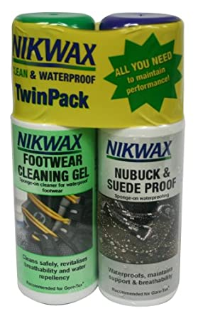 Buy Nikwax Nubuck & Suede Duo-Pack for Footwear, 4.2 fl. oz by Nikwax