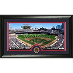 MLB Minnesota Twins Infield Dirt Coin Panoramic Mint Photo by Bullion International
