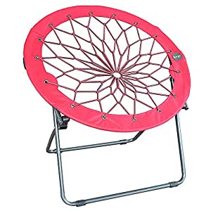 Amazon com round bungee chair red folding comfortable lightweight