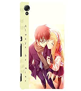 Fuson Love Couple Back Case Cover for SONY XPERIA Z4 - D3840
