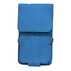 Jo Jo A6 G8 Series Leather Pouch Holster Case For Wynncom W361 Exotic Blue