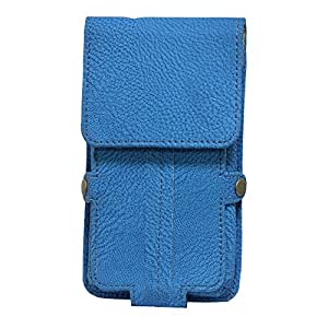 Jo Jo A6 G8 Series Leather Pouch Holster Case For Micromax X660 Exotic Blue