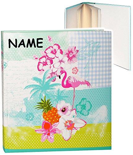 xl fotoalbum flamingo hibiskus blume hawaii incl name gebunden zum einkleben. Black Bedroom Furniture Sets. Home Design Ideas