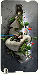 Significant multicolor printed protective REBEL mobile back cover for Samsung Galaxy Note 3 / N9000 / N9002 D.No.N-L-17158-N3