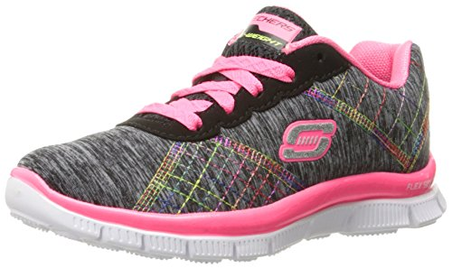 Skechers Skech Appeal It'S Electric, Scarpe Running da Bambine e Ragazze, Nero, 31