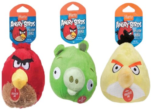 Hartz Angry Birds Plush Ball with Sound Chip, 3-Inch