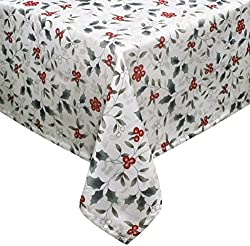 Pfaltzgraff Winterberry Rectangle Tablecloth, 60 x 84 Christmas tablecloth